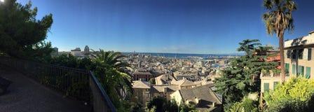 Photo d'été donnant sur Gênes Italie Image libre de droits