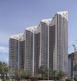 Photo d'actions de Sunny Isles Beach de sommet Image libre de droits