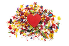 Amour de confettis Photographie stock