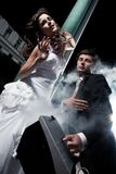 Photo d'amusement du mariage Photos stock