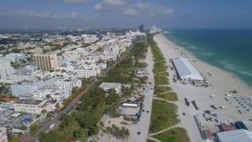 Photo d'antenne de Miami Beach Images stock