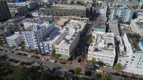Photo d'antenne de Miami Beach Photos libres de droits