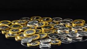 Photo d'argent biélorusse sur un fond noir Image libre de droits