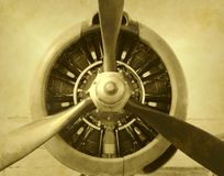 photo d'avion de cru Images stock