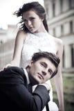 Photo d'beaux-arts d'un mariage attrayant Images libres de droits