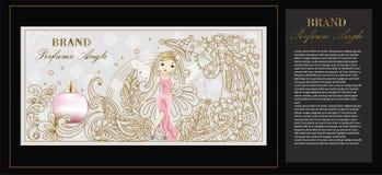 Photo d'illustration de l'emballage de parfum d'angle illustration de vecteur