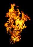 Photo d'incendie sur un fond noir image libre de droits