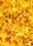 Photo d'incendie sur un fond noir images stock