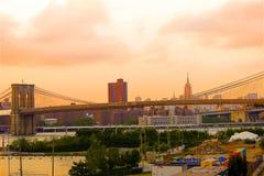 Photo d'Insta du pont de Booklyn à New York image libre de droits