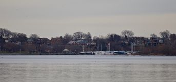 Photo d'isolement avec une vue sur le port Image libre de droits