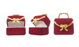 Photo d'isolement de boîte à bijoux Photographie stock libre de droits