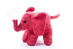 Photo d'isolement de jouet d'éléphant dans le rose Photos stock