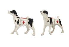 Photo d'isolement de jouet de chien de médecin Image stock