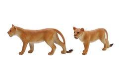 Photo d'isolement de jouet de lionne Images stock