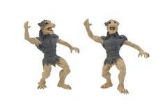 Photo d'isolement de jouet de loup-garou Photo libre de droits