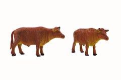 Photo d'isolement de jouet de taureau Image stock