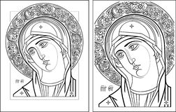Photo d'Oplechnaya outline3-4 de Vierge illustration libre de droits