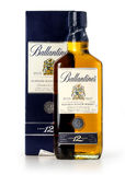 Photo d'un botle de Ballantines 12 années Photographie stock libre de droits