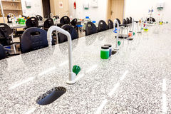 Photo d'un laboratoire de recherche d'école Photos stock