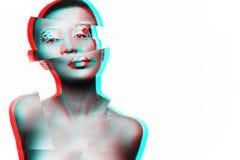 Photo d'un modèle de jeune fille avec un regard africain Photo libre de droits