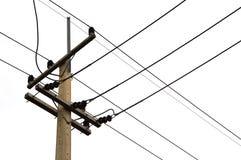 Photo d'un poteau électrique avec beaucoup de câbles Photo libre de droits