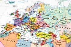 Photo d'une carte de l'Europe