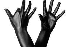 Photo d'une main colorée Photographie stock libre de droits