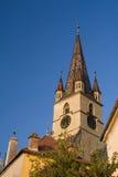 Photo d'une tour d'église Photos stock