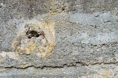 Damaged wall. Photo of damaged and grunge wall Royalty Free Stock Images
