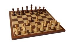 Chess opening. Danish Gambit. Stock Image