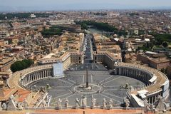 Photo de barre de panorama d'horizontal de Vatican Images stock