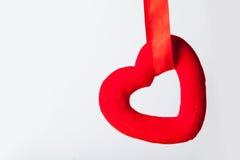Photo de beau jouet en forme de coeur sur le studi blanc merveilleux Photo libre de droits