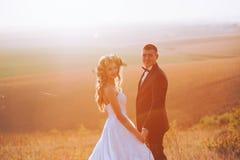 Photo de beaux-arts d'un couple attrayant de mariage Image stock