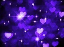 Photo de boke de fond de coeur, couleur bleu-foncé Vacances, célébration et contexte abstraits de valentine Image stock