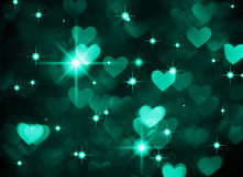 Photo de boke de fond de coeur, couleur cyan foncée Vacances, célébration et contexte abstraits de valentine Photo libre de droits