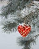 Photo de carte de coeur de Noël Image libre de droits