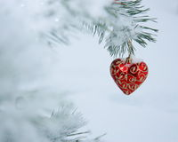 Photo de carte de coeur de Noël Photos stock