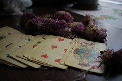 Photo de carte de tarot Photo libre de droits