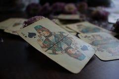 Photo de carte de tarot Photo stock