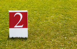 Photo de concept du numéro 2 (deux) deuxième photographie stock