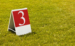 Photo de concept du numéro 3 (trois) troisième photos libres de droits