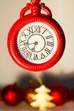 Photo de concept de Noël au-dessus du fond blanc an neuf des 2009 veilles Photographie stock