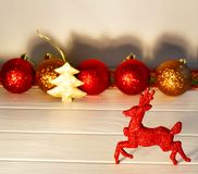 Photo de concept de Noël au-dessus du fond blanc an neuf des 2009 veilles Photo stock