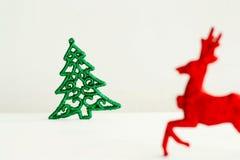 Photo de concept de Noël au-dessus du fond blanc an neuf des 2009 veilles Images stock