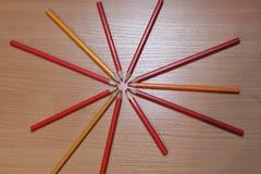Photo de crayons de couleur Image libre de droits