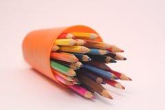 Photo de crayons de couleur Images libres de droits