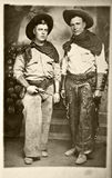 Photo de cru des cowboys Image stock