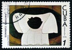 Photo de ` d'Amelia Pelaez d'artiste le ` blanc de manteau, vers 1978 Image stock