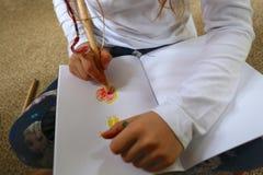 Photo de dessin d'enfant/fille pour le jour de mère Photos libres de droits