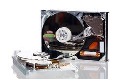 Photo de deux lecteurs de disque dur ouverts Photographie stock libre de droits